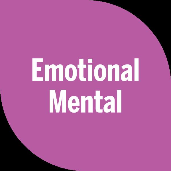 emotional mental on magenta petal