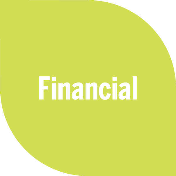 Financial on light green petal