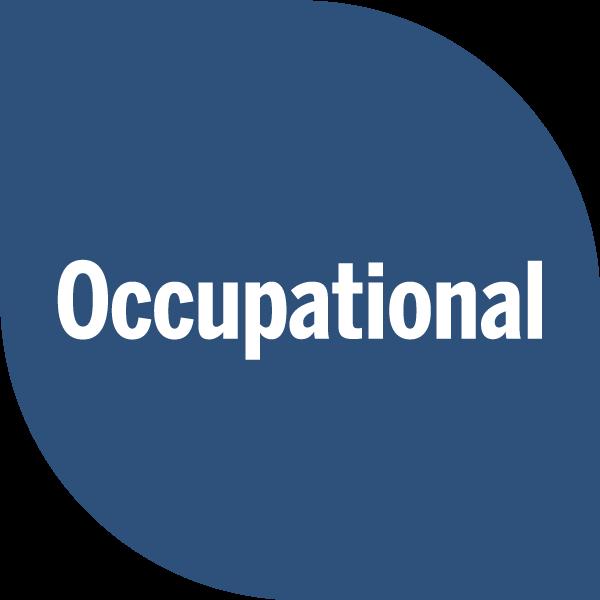 Occupational on blue petal