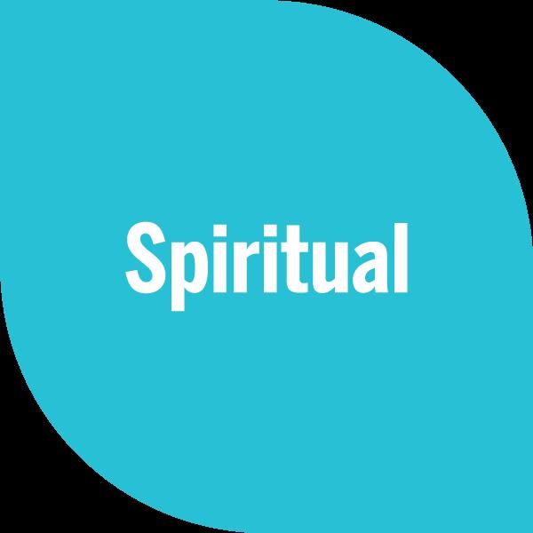 Spiritual on cyan petal